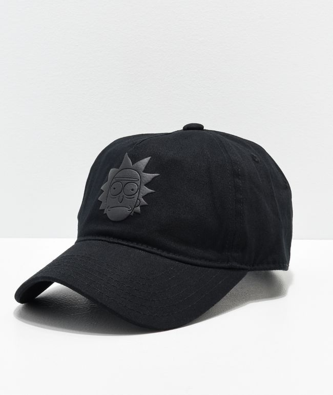 Primitive x Rick and Morty Rick Puff Black Strapback Hat