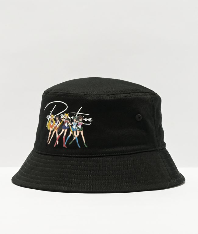 Primitive x Sailor Moon I Black Bucket Hat