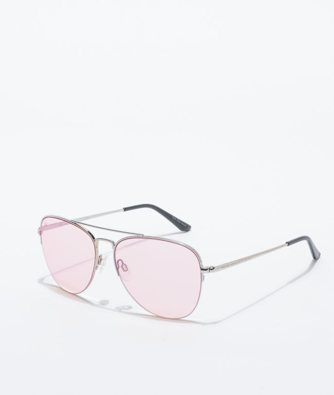 Prive Revaux x Nyjah Huston Hollywood Silver & Pink Sunglasses