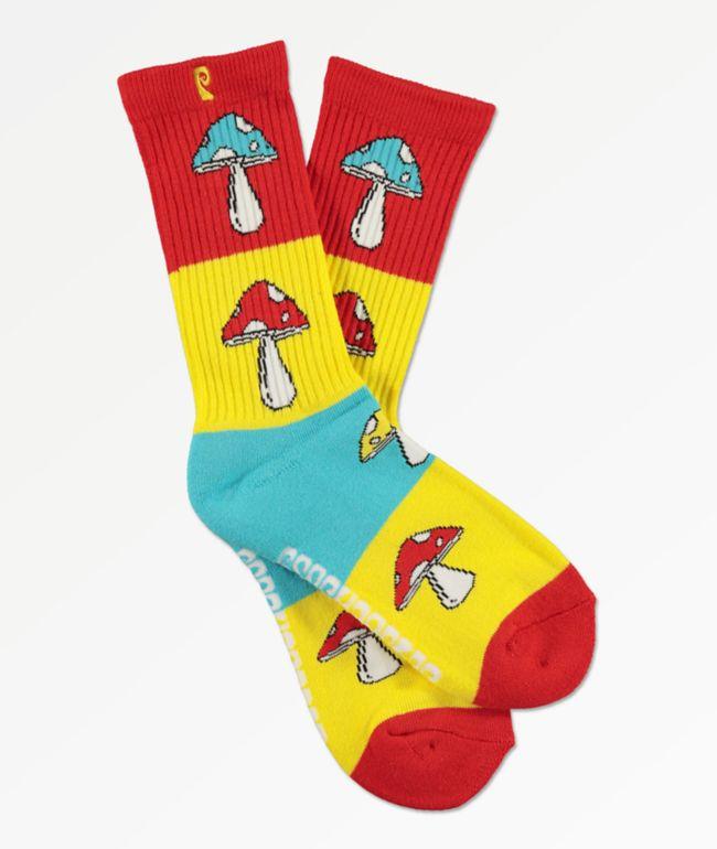 Psockadelic Andy calcetines rojos, amarillos y azules