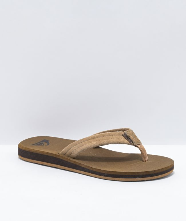Quiksilver Carver Tan & Brown Suede Sandals