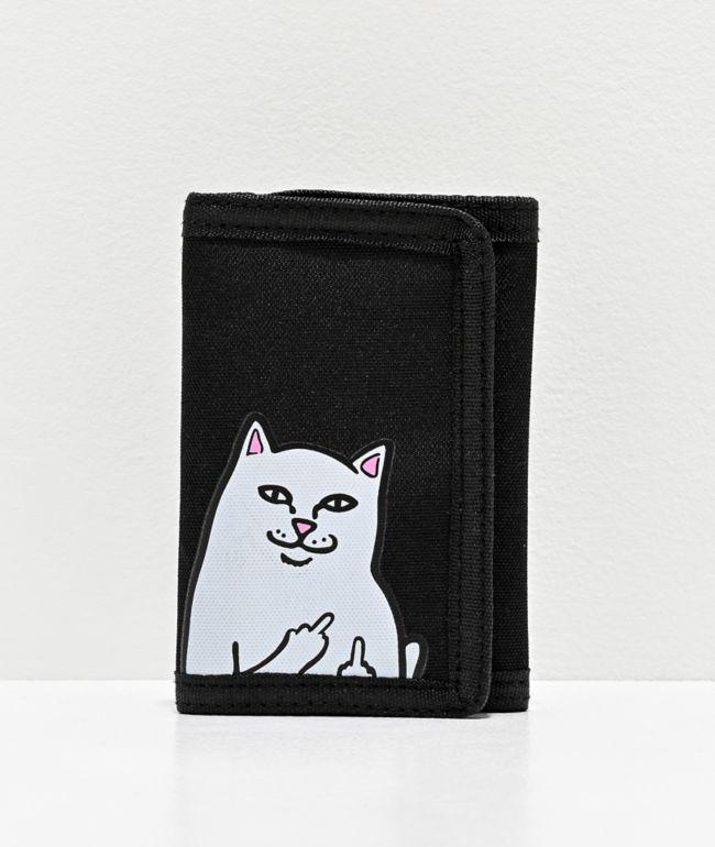 RIPNDIP Black Trifold Wallet