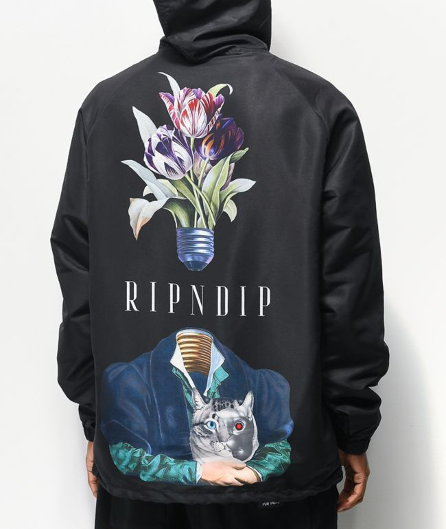 RIPNDIP Lights Out Black Hooded Coaches Jacket