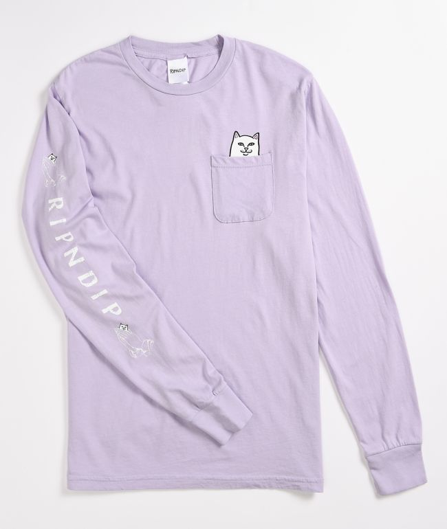 RIPNDIP Lord Nermal Lavender Long Sleeve T-Shirt