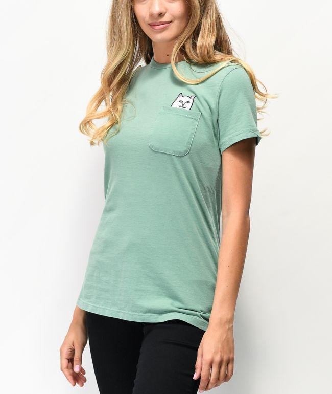 RIPNDIP Lord Nermal Mint Green Pocket T-Shirt