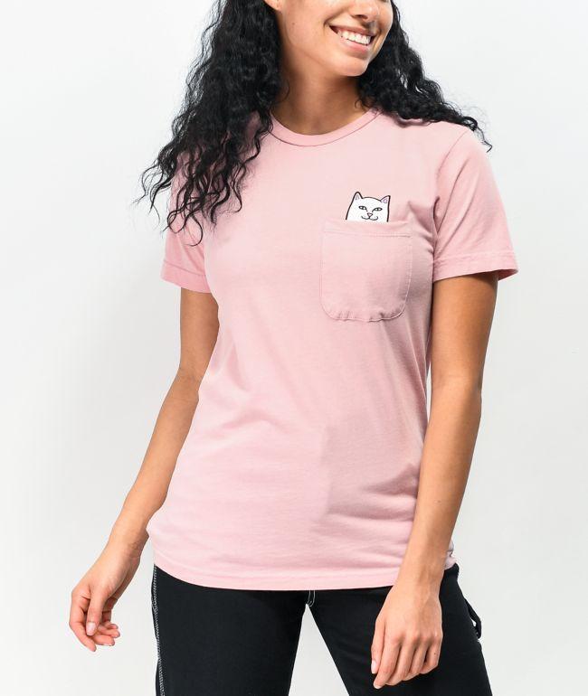 RIPNDIP Lord Nermal Pink Pocket T-Shirt