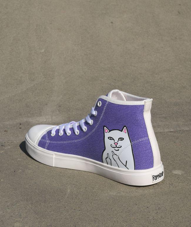 RIPNDIP Lord Nermal UV Reactive White High Top Shoes