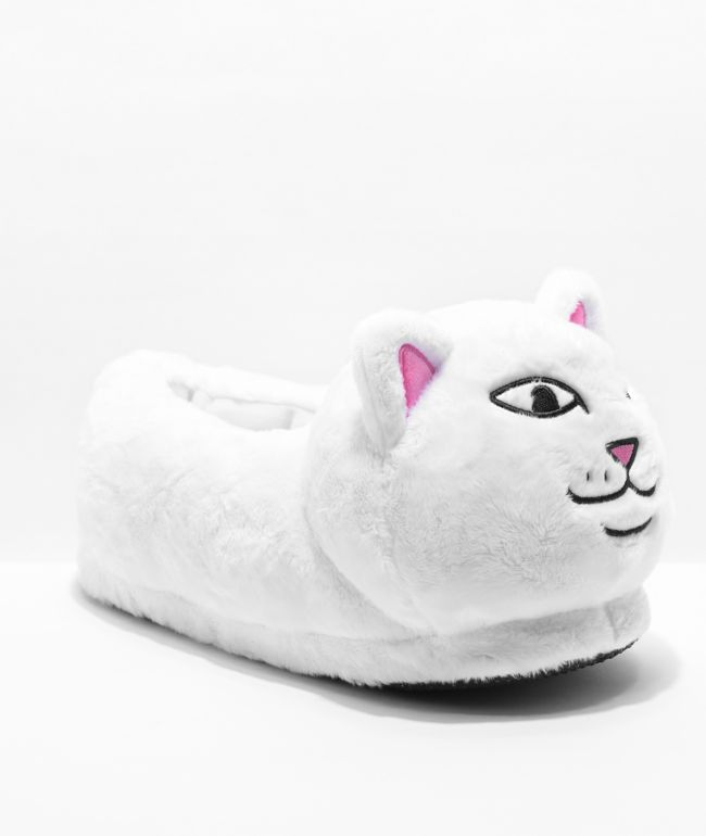 RIPNDIP Lord Nermal White Slippers