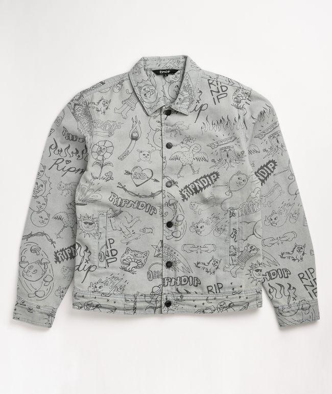 RIPNDIP Marker Light Wash Denim Jacket