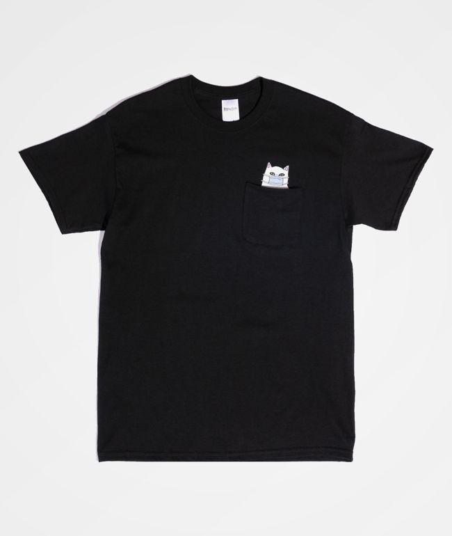 RIPNDIP Nermaphobe Black Pocket T-Shirt