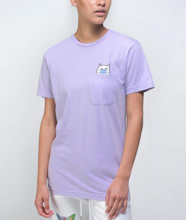 RIPNDIP Nermaphobe Lavender Pocket T-Shirt