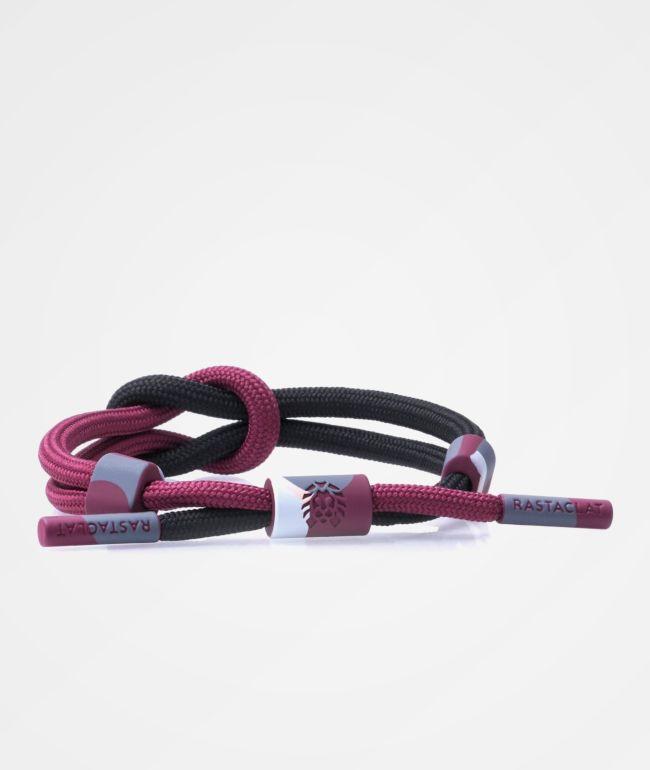 Rastaclat Capsule Knotted Merlot & Black Bracelet