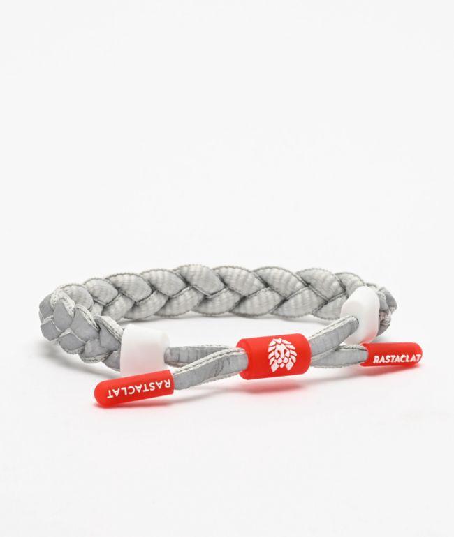 Rastaclat Grey Matter Grey & Red Bracelet