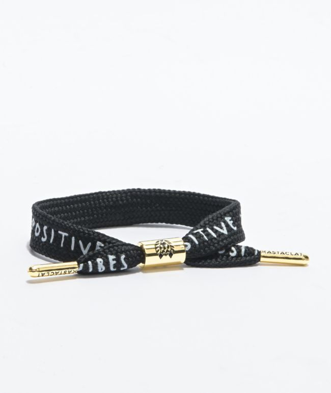 Rastaclat Positive Vibes Black & Gold Bracelet