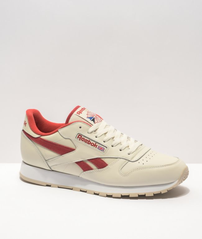 Reebok Classic Leather Off-White & Red Shoes