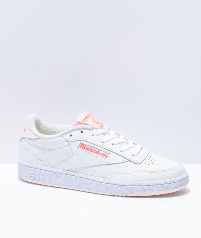 Reebok Club C 85 Retro Sport White & Orange Shoes