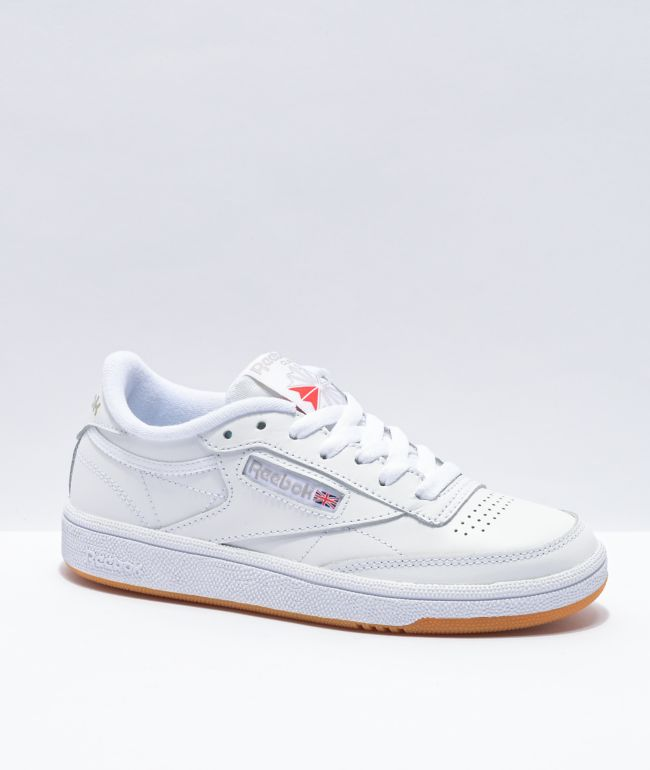 Reebok Club C 85 White, Light Grey & Gum Shoes
