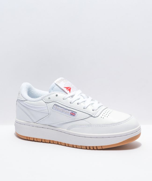 Reebok Club C Double White & Gum Shoes