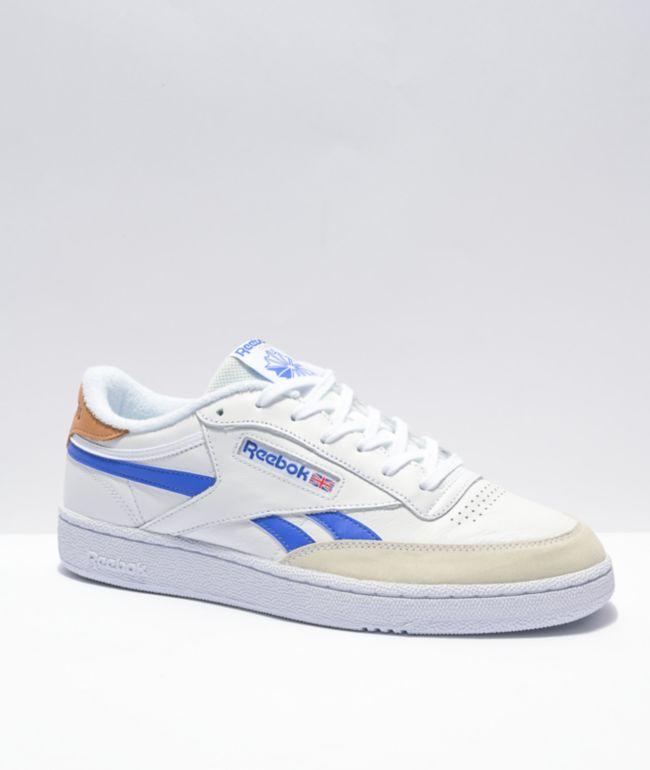 Reebok Club C Vintage White & Blue Shoes