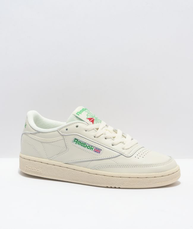 Reebok Club C Vintage White & Green Shoes