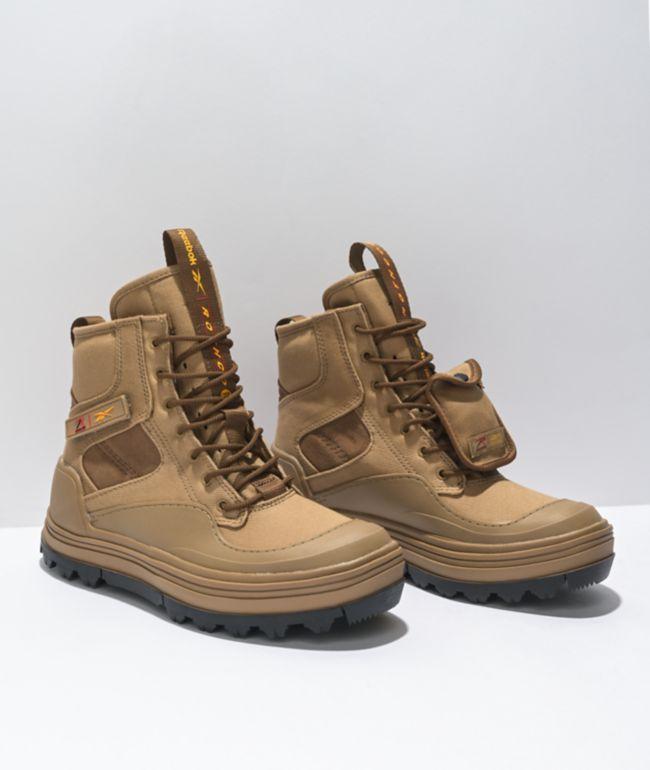 Reebok x Rothco Club C Cleated Khaki Hi-Top Shoes