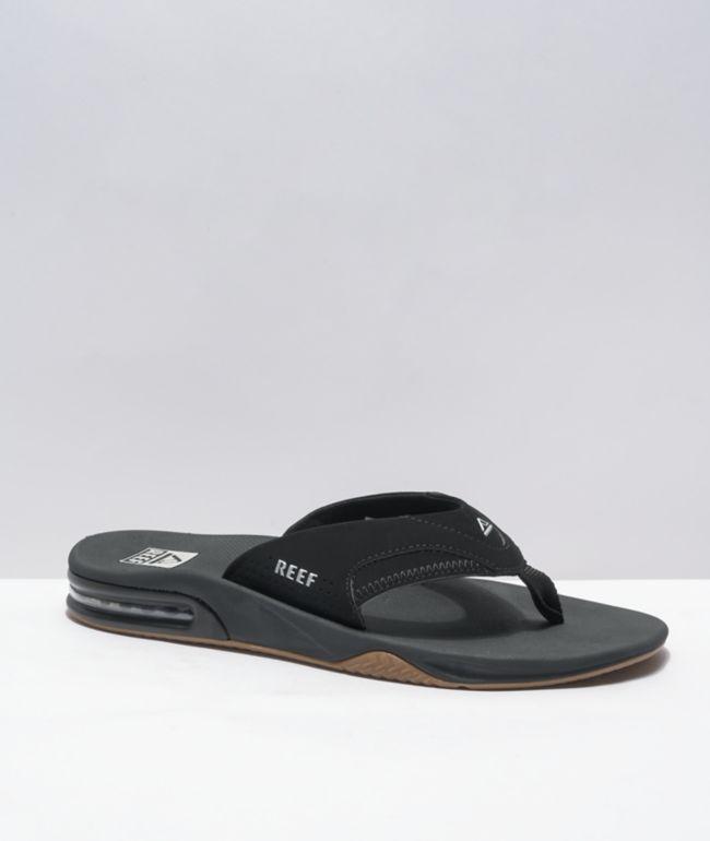 Reef Fanning 1.0 Black & Silver Sandals