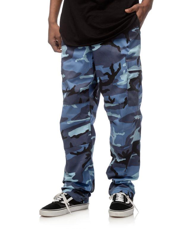 Rothco BDU pantalones cargos camuflados en azul