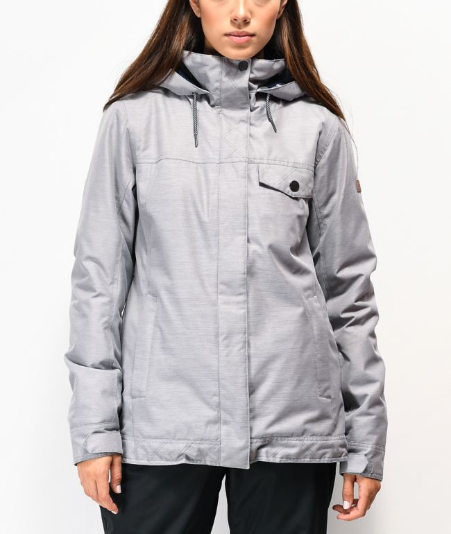 Roxy Billie Heather Light Grey 10K Snowboard Jacket
