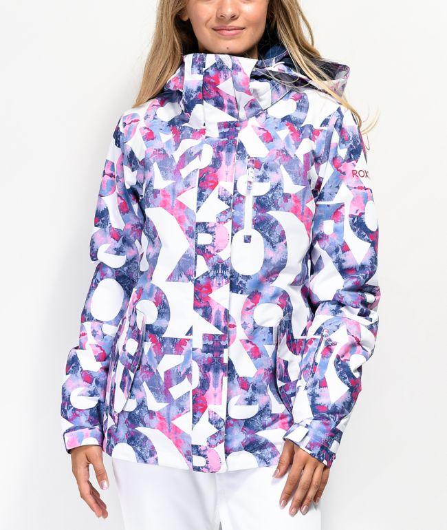 Roxy Jetty Famous Alphabet 10K Snowboard Jacket