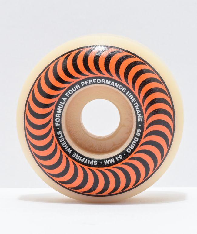Ruedas de skate naranja Classic 53mm 99a de Spitfire Formula Four