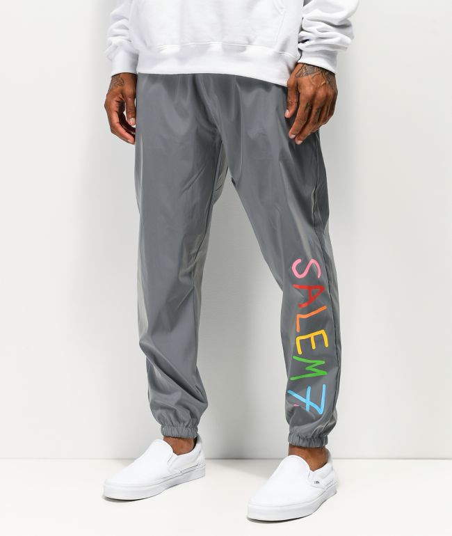 Salem7 Reflective Grey Track Pants
