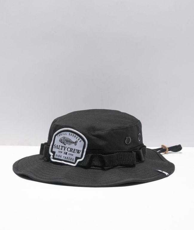 Salty Crew Boneyard Black Boonie Hat