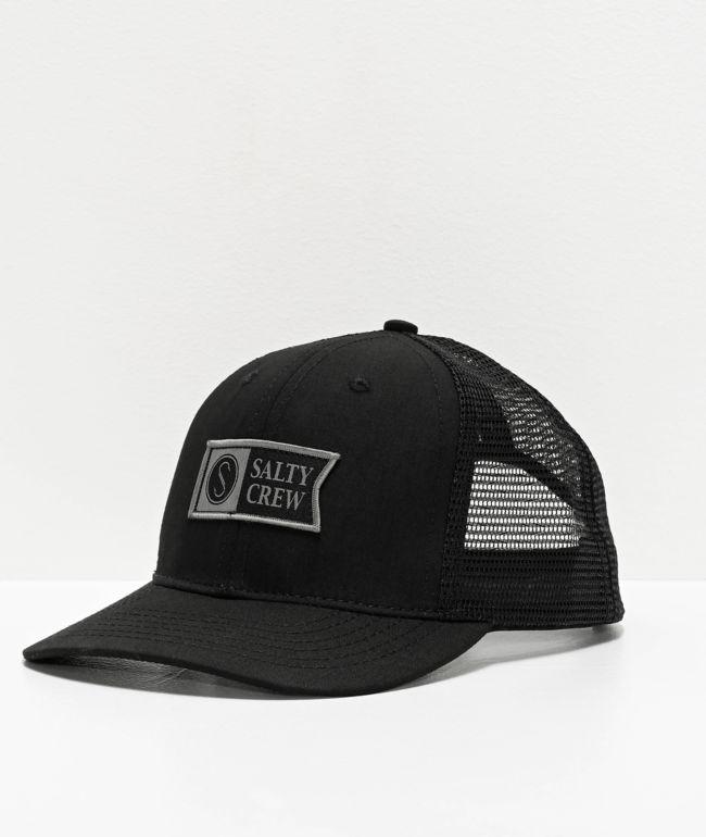 Salty Crew Pinnacle Retro Black Trucker Hat