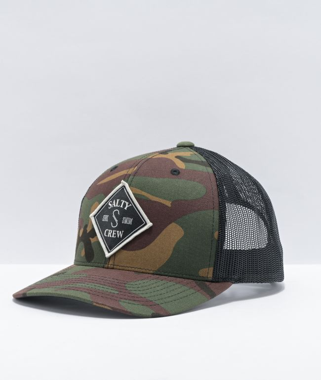 Salty Crew Tippet Camo & Black Trucker Hat