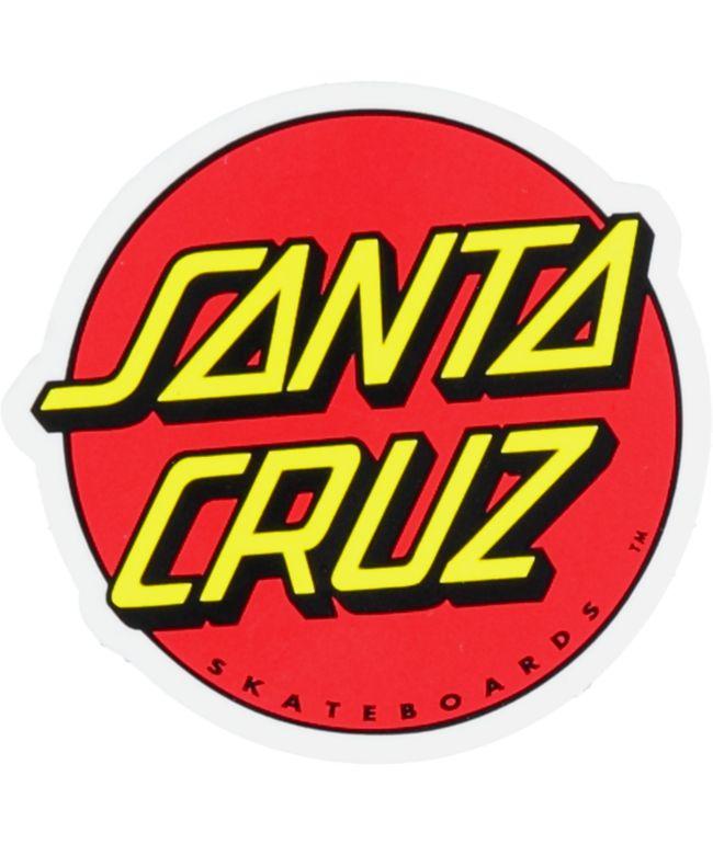 "Santa Cruz Classic Dot 3"" Sticker"