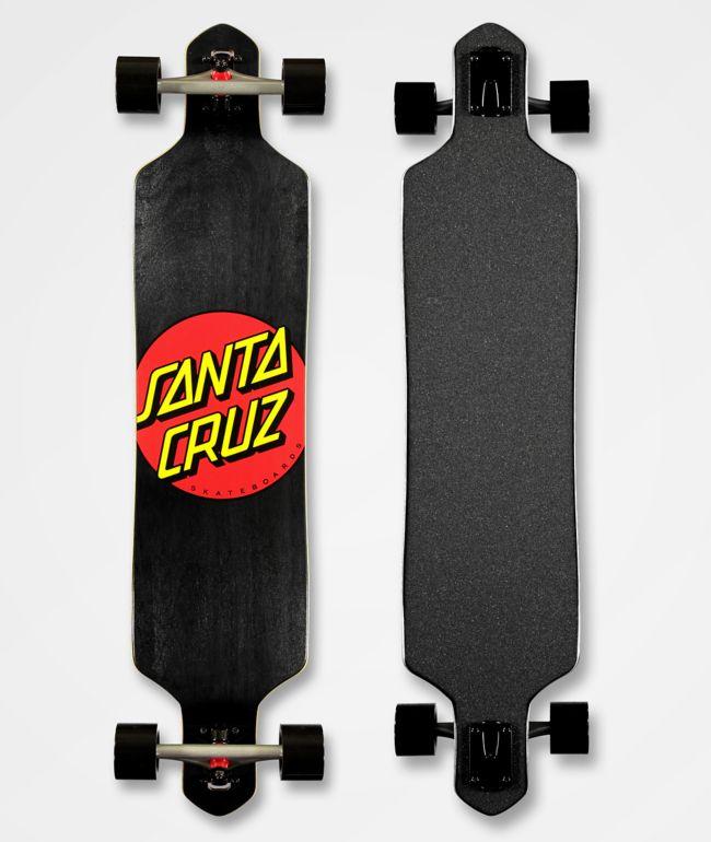 "Santa Cruz Classic Dot 41"" Drop Through Longboard Complete"