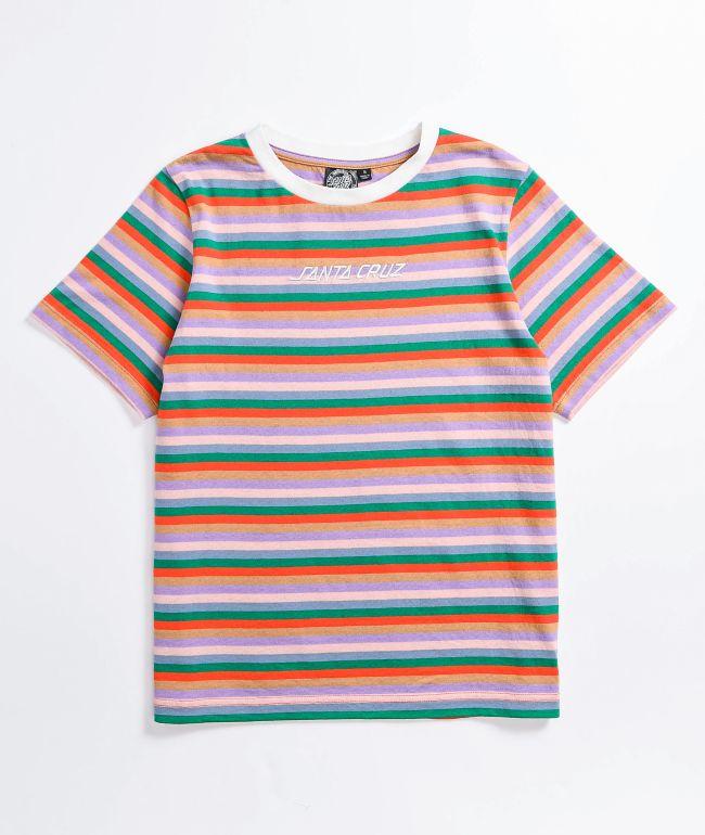 Santa Cruz Classic Strip 70s Multi Stripe T-Shirt