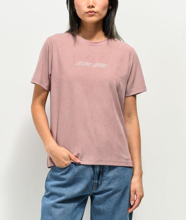 Santa Cruz Classic Stripe Mauve Corduroy T-Shirt