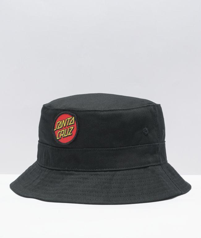 Santa Cruz Dot Black Bucket Hat