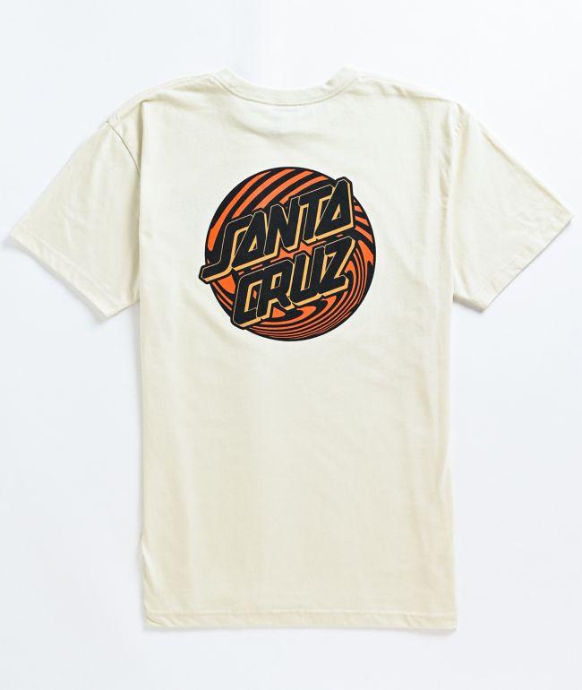 Santa Cruz Eco Twister Dot Natural T-Shirt