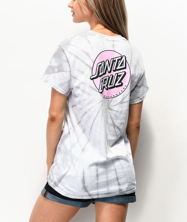 Santa Cruz Missing Dot Spider Tie Dye T-Shirt