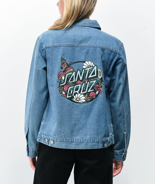 Santa Cruz Monarch Mushroom Denim Jacket