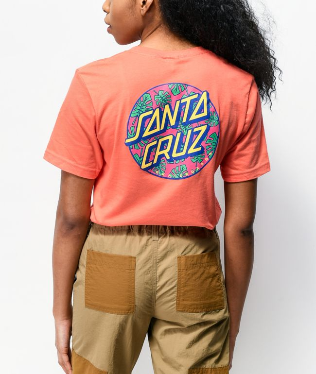 Santa Cruz Monstera Dot Coral T-Shirt