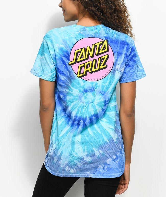 Santa Cruz Other Dot Blue Tie Dye T-Shirt