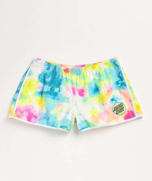 Santa Cruz Other Dot Neon Tie Dye Derby Shorts