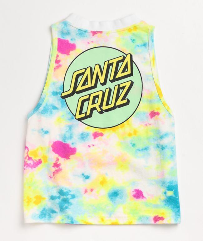 Santa Cruz Other Dot Neon Tie Dye Tank Top