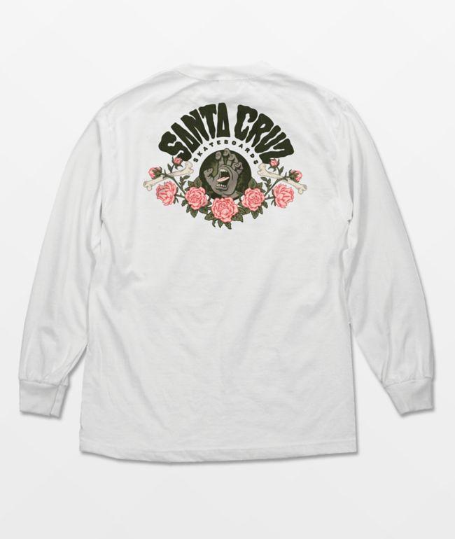 Santa Cruz Screaming Arrangement White Long Sleeve T-Shirt
