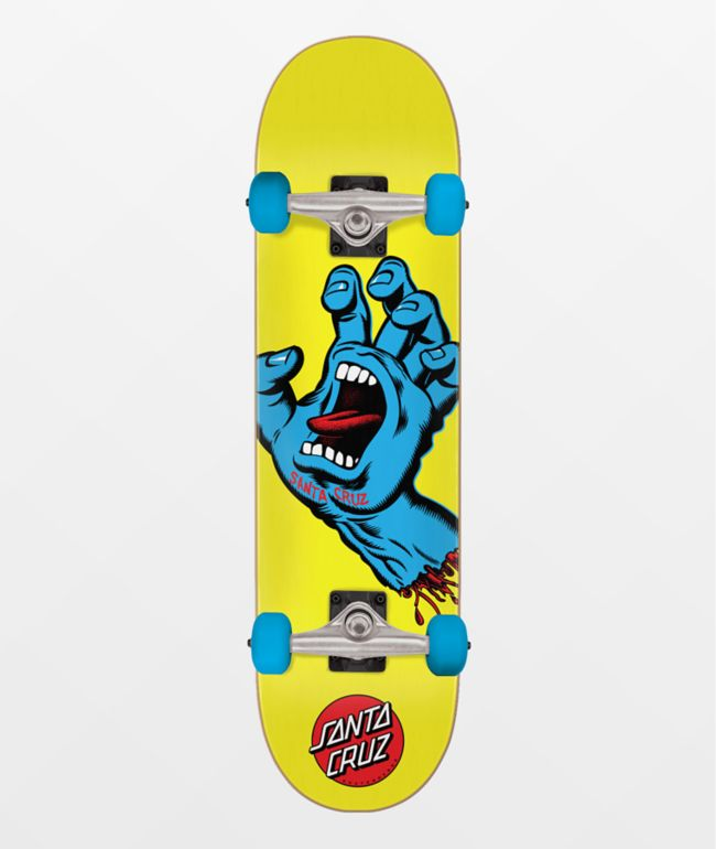 "Santa Cruz Screaming Hand 7.75"" Skateboard Complete"