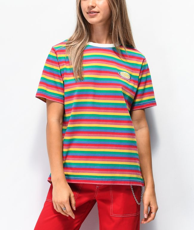 Santa Cruz Sunny Rainbow Striped T-Shirt