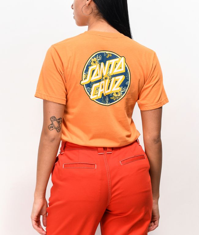 Santa Cruz Vacation Dot 2 Orange T-Shirt